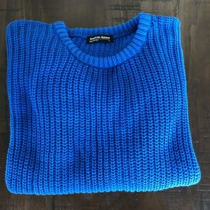 American Apparel Cobalt Blue Knit Sweater Size S